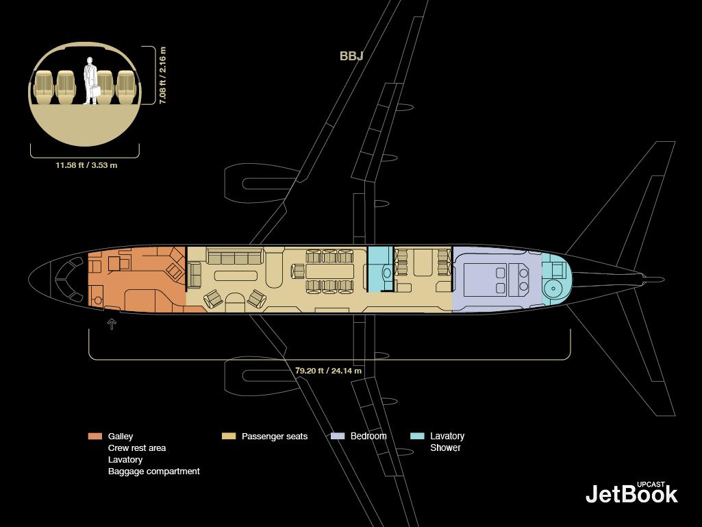Boeing Bbj Floor Plan Related Keywords Boeing Bbj Floor